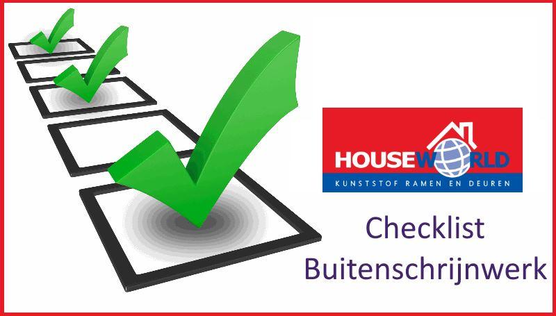 checklist ramen en deuren